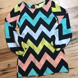 SAGE Sz S chevron stripe dress